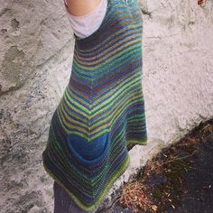 """Ravelry: SpincycleYarns' The Littlest Liesl // knit with Dyed In The Wool in """"Tell Tale Heart"""" // plus Swans Island fingering in Indigo"""