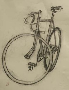 Shelby Flyer - Drawing 5 | Bicycle Paintings, Prints and Custom Bike Art Portraits