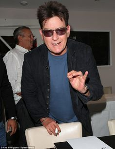 Currying favour? Diners at a South London curry house were shocked to see Charlie Sheen turning up for a quiet curry, on Saturday night