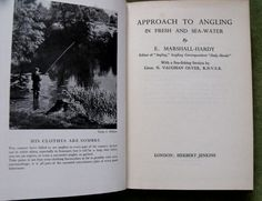Approach To Angling In Fresh And Sea-Water By E Marshall-Hardy With A Sea Fishing Section By N Vaughn Olver With Illustrations Diagrams Herbert