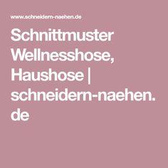 Schnittmuster Wellnesshose, Haushose | schneidern-naehen.de