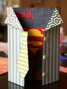 "1. Superhero Card 10 DIY Father's Day Gifts That Will Make Dad Say ""WOW!"" #fathersday Father's Day gifts"