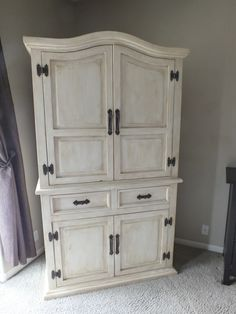 Rustic Pine Bedroom Furniture Tired Of the Rustic Pine Look Armoire Facelift Mexican Pine Furniture, Pine Bedroom Furniture, Refurbished Furniture, Paint Furniture, Repurposed Furniture, Steel Furniture, Armoire Makeover, Furniture Makeover, Industrial Design Furniture