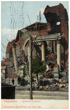 TERREMOTO VALPARAISO EARTHQUAKE 1906, POSTALES CHILE PPC POSTCARDS Postcards, Gazebo, Outdoor Structures, Retro, Painting, Amor, Vintage Posters, Historical Photos, Antique Photos