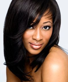 weave hairstyles with bangs - Google Search