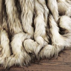 Shop Aurora Home Faux Fur Throw Blankets by Wild Mannered - On Sale - Overstock - 10649736 - x - Bleached Fox Faux Fur Blanket, Faux Fur Throw, Cute Blankets, Throw Blankets, Throw Pillows, Fur Bed Throw, Faux Fur Bedding, Viking Decor, Bohemian Bedroom Decor