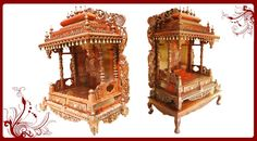 Rosewood Carved Temple For Home