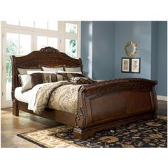 Shop for north shore sleigh bedroom set with Bedroom Furniture Discounts. Our north shore bedroom set is available in different sizes; includes headboard, footboard, rails, dresser, mirror and a lot more. To find more visit us online. Sleigh Bed Frame, Sleigh Bedroom Set, King Bedroom Sets, Sleigh Beds, Bedroom Furniture Sets, Bedroom Bed, Master Bedroom, Furniture Decor, Oak Bedroom