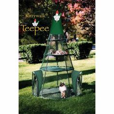 Kittywalk Systems Teepee Cat Tree that allows your cat a safe place to be outside.