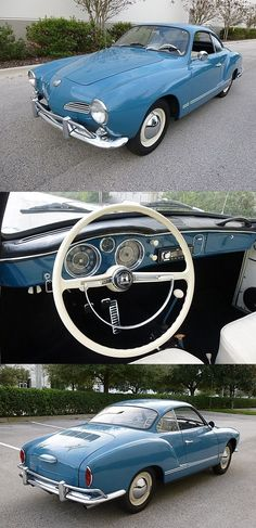 1960 VW Karmann Ghia - This car is perfect all the way to steering wheel with the castle & dragon.❣️