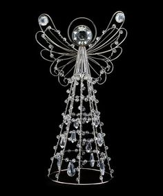 Gorgeous   Silver+wire+angel+ornament+by+Gisela+Graham+on+secretsales.com Wire Crafts, Christmas Crafts, Christmas Decorations, Christmas Ornaments, Angel Ornaments, Beaded Ornaments, Beaded Angels, Handmade Angels, Angel Decor