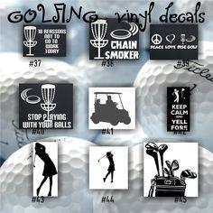 GOLF Vinyl Decals Golfing Sticker Golfer Decal Car Window - Custom vinyl decals cars