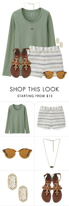 """""""Easter weekend:)"""" by flroasburn ❤ liked on Polyvore featuring Uniqlo, Rebecca Minkoff, Ray-Ban, Kendra Scott and Tory Burch"""
