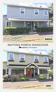 Inviting Porch Virtual Makeover Ad Aesthetic For Remodelaholic Mid Century Modern Curb