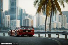 A Ferrari F40, MiamiStyle