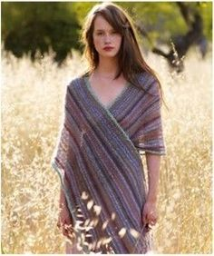 The Most Stunning Summer Knit Shawl Pattern You'll Ever See // Easy garter and stockinette shawl designed by Kaffee Fassett
