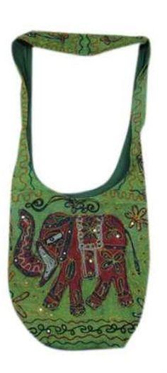 Elephant Embroidery Bohemian Sling Crossbody Bag