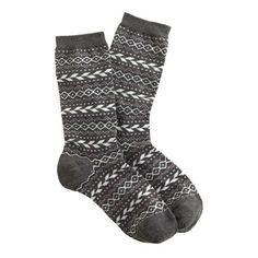 J.Crew - Fair Isle trouser socks carbon pink