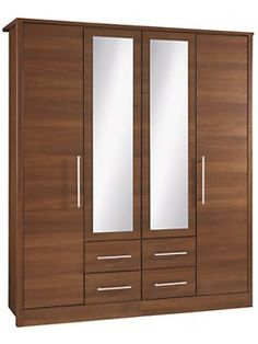 Mens and Kids Fashion, Furniture, Electricals & More Consort Liberty 4 door wardrobe ready assembledConsort Liberty 4 door wardrobe ready assembled