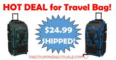"HOT BUY! Awesome for anyone that travels - by car, plane or even train! Get a 30"" Multi Pocket Travel Duffel for only $24.99 shipped.  Click the link below to get all of the details ► http://www.thecouponingcouple.com/multi-pocket-travel-duffel/ #Coupons #Couponing #CouponCommunity  Visit us at http://www.thecouponingcouple.com for more great posts!"