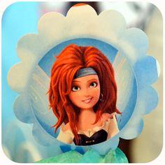 Disney Pirate Fairy Party - Zarina Cupcake Topper on Etsy with Kraftsbykaleigh #kraftsbykaleigh #disneypiratefairy #tinkerbell