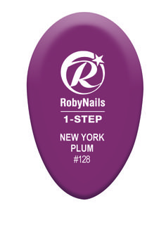 RobyNails 1-Step Gel Polish New York Plum: urban trendy elegant plum