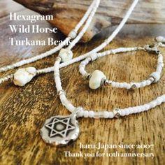 haru.Japan works Hexagram WildHorse Turkana beads