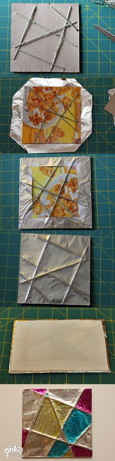 Foil, string, and sharpies!