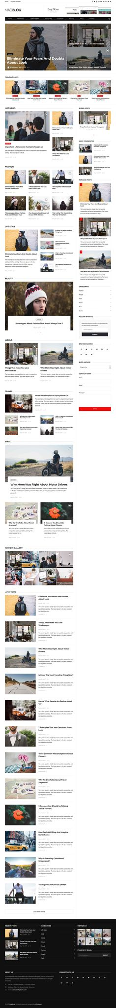 MagBlog Blogger Template:  MagBlog is a clean and elegant, user friendly/customizable, fast-loading, fully responsive, flexible and functional blogger theme excellent for news, newspapper, magazine, tech, publishing and review websites/blogs. MagBlog Blogger Template uses best SEO practices, and on top of that, it's easy to use and to setup by One-Click demo install.  http://www.premiumbloggertemplates.com/magblog-blogger-template/