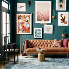 This year, go beyond the rustic oranges and reds of autumn. Explore deep, rich tones like this Deep Sea Dive SW 7618 from the @westelm 2016 Fall/Winter color palette. #homedecor #livingroomdecor #fallcolors #wintercolors