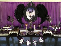 Stunning Maleficent birthday party! See more party planning ideas at CatchMyParty.com!