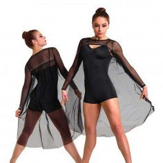 e99fcb5605b0cf Illusionist Long Shrug, Spandex Shorts, Black Nylons, Tango, Dance Costumes,  Dance