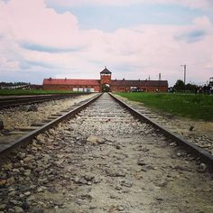 """""""Those who do not remember the past, are condemned to repeat it"""" George Santayana #auschwitz #poland #roadtodeath #auschwitzcamp"""