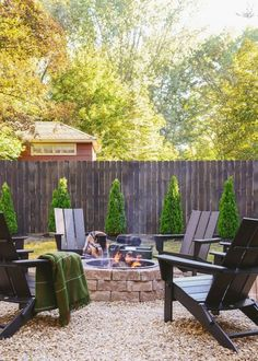 Build a Backyard Fire Pit This Weekend! How to make a fire pit // DIY fire pit // Polywood Adirondack chairs // via Yellow Brick Home Make A Fire Pit, Diy Fire Pit, Fire Pit Backyard, Backyard Patio, Backyard Landscaping, Landscaping Ideas, Backyard Ideas, Backyard Seating, Fire Pit Front Yard