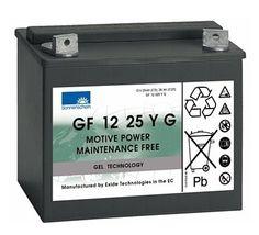 http://www.shop.ecke-batterien.de/dryfit-Gelbatterie-12V/25AhC5 GF12025 YG 12V/25 Ah(C5) SONNENSCHEIN dryfit Gel wartungsfreie, verschlossene, wiederaufladbare Bleigelbatterie, zyklenfeste Kleintraktionsbatterie, Maße: LxBxH   197x132x180 (mm)  Gewicht: 11,1 Kg  Polart: Flachpol, gebohrt, 6mm Loch entspricht der:  SONNENSCHEIN Pro Cyclic 12V 28 Ah (0889762531)  ersetzt die SONNENSCHEIN A512C/28G6 A512C/28,0G6  127,81 EUR