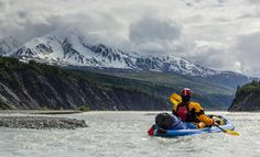 Explore the beauty of Glacier Bay in Alaska. Breathtaking sights of animals and nature in one extraordinary place! Inflatable Kayak, Canoe And Kayak, Wilderness, Alaska, Mount Everest, Kayaking Trips, Explore, Mountains, Places