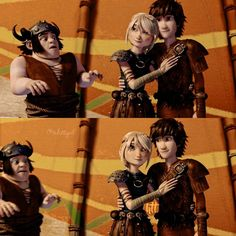 One of my favorites Hiccup and Astrid are all like awwwwww and all Snotlout can say is EW