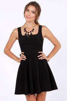 Little black dress....