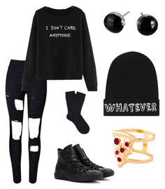 """Dan Howell inspired outfit"" by cute-k-a-r-o on Polyvore featuring WithChic, Converse, Falke, Local Heroes and Glenda López"