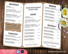 food menu template by aiwsolutions on creativework247