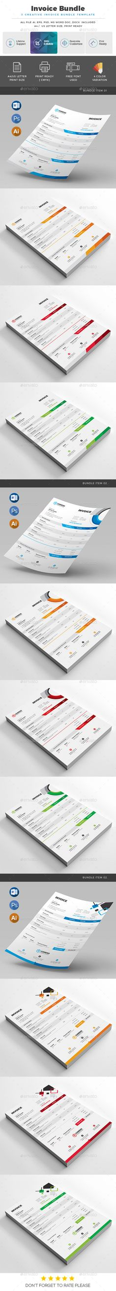 Invoice Ai illustrator, Template and Print design layouts - printing invoice