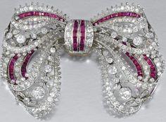 红宝石和钻石胸针,大约1910