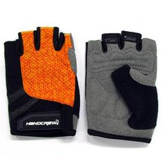L Size Outdoor Non-slip Riding Gloves Super Soft Climbing Gloves for Outdoor Activity - Orange #hats, #watches, #belts, #fashion, #style