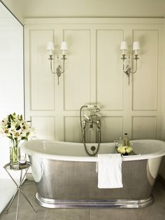 McAlpine Booth & Ferrier Interiors Cordish Townhome - McAlpine Booth & Ferrier Interiors.  Tub, paneling, lights