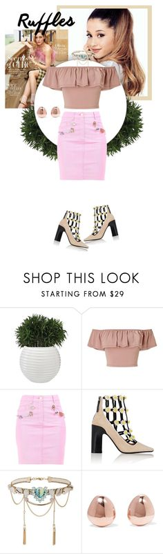 """Untitled #165"" by fjannah ❤ liked on Polyvore featuring Miss Selfridge, Moschino, Fabrizio Viti and Monica Vinader"