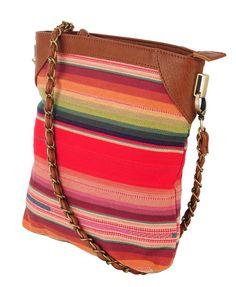 Multi-Striped N/S shoulder bag, Forever 21
