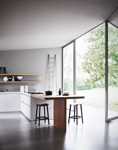 Fitted #kitchen with island MAXIMA 2.2 - COMPOSITION 3 - @cesarkitchen