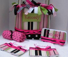 Kennedy Diaper Bag Set 5 pc.  Shower by sassygatormonograms, $168.00