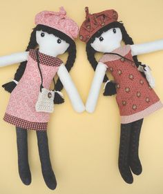 Cloth doll rag doll pdf pattern with detailed by Pupadou on Etsy, $12.00