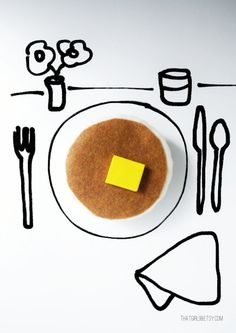 Play Felt Pancakes and Butter by thatgirl99 on Etsy, $12.00